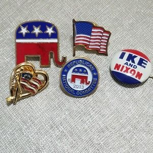 Ike and Nixon Republican Pin Collection Set